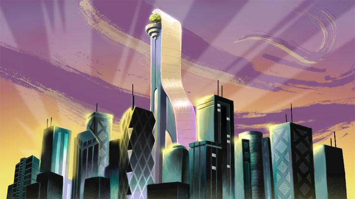 SN Cityscape Background Art