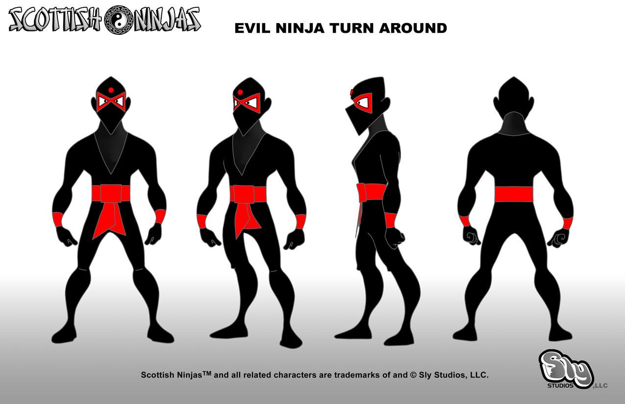 The Scottish Ninjas » Blog Archive » Evil Ninja Model Sheet